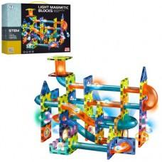 Конструктор 2302 магнітний, містечко-трек, кульки, 110дет., світло, бат.(таб.), кор., 36-28,5-8,5см.