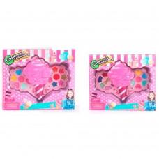 Косметика 352-A-B морозиво, 2 яруси, тіні, пензлики, 2 види, кор., 27,5-23-5,5 см.