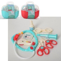 Лікар 660-77-78 стетоскоп, інструменти, 2 кольори, валіза, карт. обгортка, кул., 22-17-12 см.