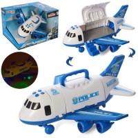 Літак 660-A242 інерц., корпус-контейнер, муз., світло, бат., кор., 30-20-24,5 см.