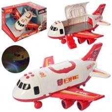 Літак 660-A243 інерц., корпус-контейнер, муз., світло, бат., кор., 30-20-24,5 см.