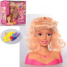 Лялька 323-5 голова для зачісок, заколочки, бігуді, гребінець, кор., 27-25,5-11,5 см.