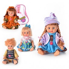 Лялька JT 5070/79/77/5142 Аліна, розмовляє, 4 види, рюкзак