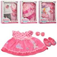 Лялькове вбрання 905-EIKM взуття, окуляри, 4 види, кор., 29-36-5,5 см.