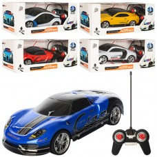 Машина 3700-61-2-3-4G радіокер.,небит. корпус,гумові колеса,4 види,3D світло, бат., кор., 33-14-13см