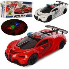 Машина YS215-6 поліція, 1:18, їздить, 2види, 3Dсвітло, муз.(англ.,сирена), бат., кор.,23-11-8см.