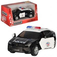 Машинка KT5368WP інерц., мет., поліція, 1:38, відчин. двері, гумові колеса, кор., 16-7,5-8 см.