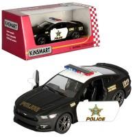 Машинка KT5386WP інерц., мет., поліція, 1:38, відкр. двері, гумові колеса, кор., 16-7-8 см