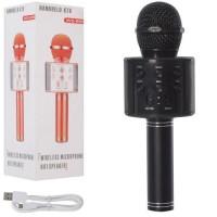 Мікрофон WS858-black HQ акум., Bluetooth, TFслот, USBвхід, USBшнур, чорний, кор., 8-23,5-9 см.