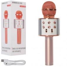 Мікрофон WS858-rosegold HQ акум., Bluetooth, TFслот, USBвхід, USBшнур, кор., 8-23,5-9 см.