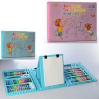 Набір для творчості MK 4533 фломастери, олівці, акв.фарби, 2кольори, 208предм., валіза, 41-30-5,5см.