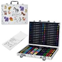 Набір для творчості MK 4761-1 олівці, акв.фарби, фломастери, крейда, розмальовка, валіза, 35-25-5 см