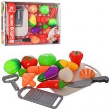 Продукти 2290-91 на липучці, 10 шт.,дощечка,терка,ніж,овощерізка,2 види(овочі/фрукти),кор.,37-28-6см