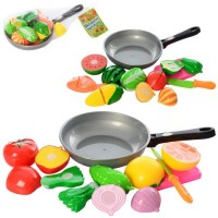Продукти 7013C на липучці, овочі/фрукти, сковорідка, дощечка, 2 види, сітка, 28-18-8 см.
