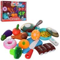 Продукти C5510-2 на липучці, посуд, дощечка, ніж, кор., 39-30-8 см.