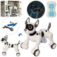 Собака 20173-1 радіокер., акум., ходить, USB, муз.(рос.) - пісні, казки, світло, кор., 33,5-28-22см.