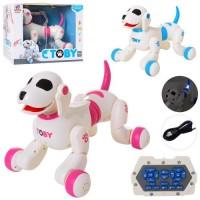 Собака 8205 радіокер.,реаг.на руку,акум.,муз.(англ.),прогр,.танц,USB,2кольори,світло,кор.,32-25-23см