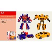 Трансформер 6-8 робот+машинка, 2 види, кор., 19-19,5-7 см.