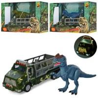 Трейлер 624002-01-03-04 динозавр, 3 види, муз., світло, бат.(таб.), кор., 31-20-13см.
