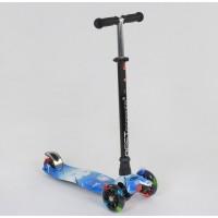 """Самокат А 24658 /779-1307 MAXI """"Best Scooter"""" (1) пластмассовый, 4 колеса PU, СВЕТ, трубка руля алюм"""