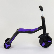 Самокат 3в1 JT 30304 (1) Best Scooter, самокат-велобег-велосипед, ФИОЛЕТОВЫЙ, свет, 8 мелодий, колёс