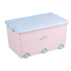 """KR-010-104 Контейнер для іграшок колекція """"КРОЛИКИ"""",рожевий Tega baby"""