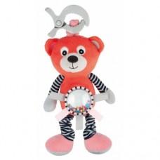 68/062_cor Canpol babies Іграшка м'яка вібруюча Bears - коралова