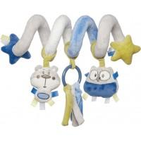 68/064_grey Canpol babies Іграшка м'яка спіраль до ліжечка/візка Pastel Friends - сіра