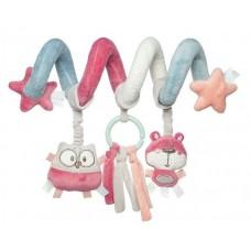 68/064_pin Canpol babies Іграшка м яка спіраль до ліжечка/візка Pastel Friends - рожева