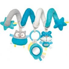 68/064_tur Canpol babies Іграшка м яка спіраль до ліжечка/візка Pastel Friends - бірюзова