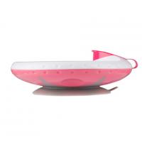1070/02 Миска с присоской, поддерживающая температуру пищи Розовый