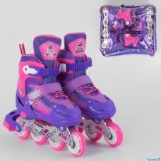 Роліки 10033-S Фіолетовий