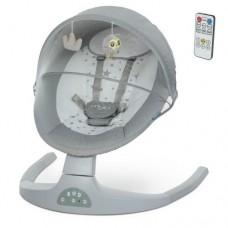 Центр-гойдалка ME 1074 MYLA Light Gray Linen пульт, 5 швид.,таймер,12 мелод.,Bluetooth,USB,св.сірий