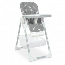 Стільчик M 4507 Fluffy Gray для годування, столик висув., ремені безпеки, сірий.