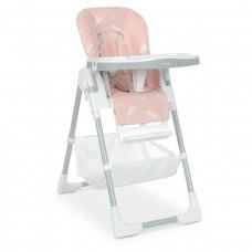 Стільчик M 4507 Fluffy Pink для годування, столик висув., ремені безпеки, рожевий.